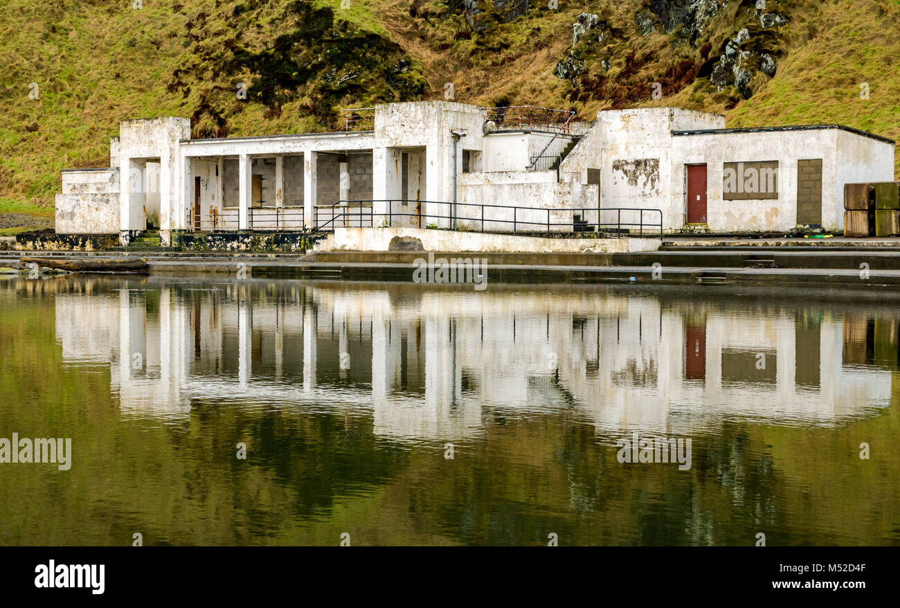 Disused pool stock photos disused pool stock images alamy - House with swimming pool for sale scotland ...