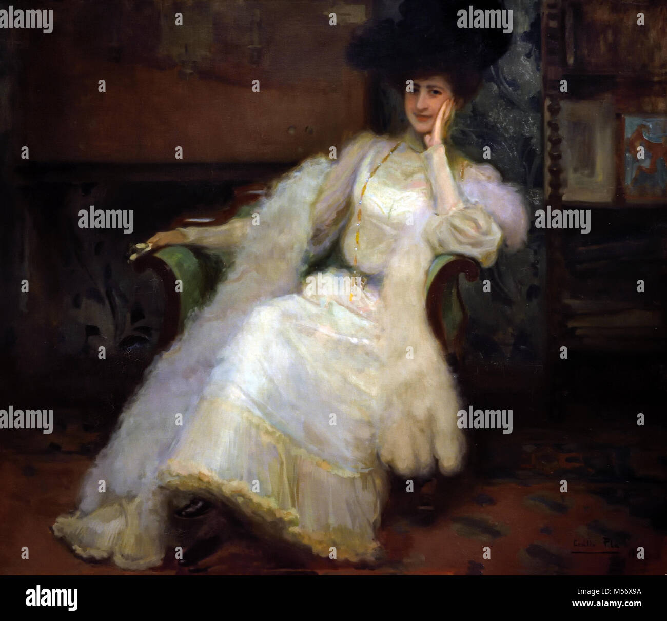 The Countess of Yumuri 1903, Cecilio Pla 1880-1934 20th, century, Spain, Spanish, - Stock Image