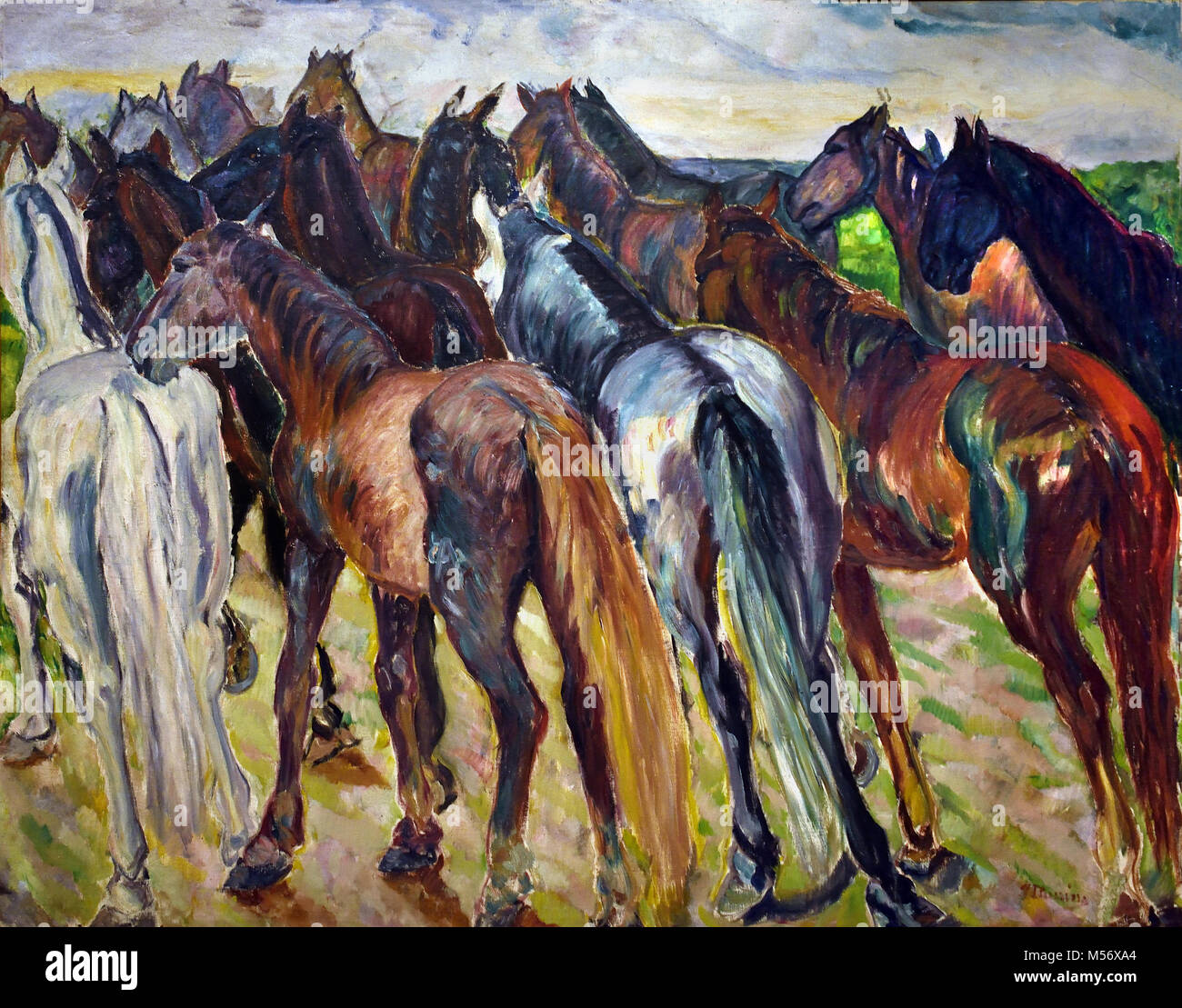 Colts in the Country 1912 Iturrino González, Francisco (Santander, Cantabria, 1864 -  Cagnes-sur-Mer, Francia, - Stock Image