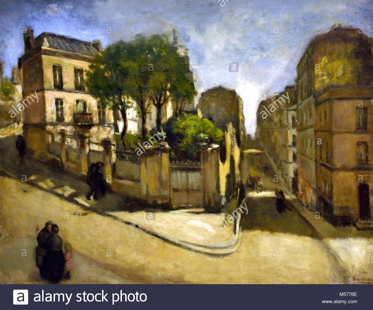 Somewhere in Montmartre1905 by   Barrueta, Benito Bermeo (Bizkaia,1873 - Bermeo Bizkaia,1953 ) Spain, Spanish, - Stock Image