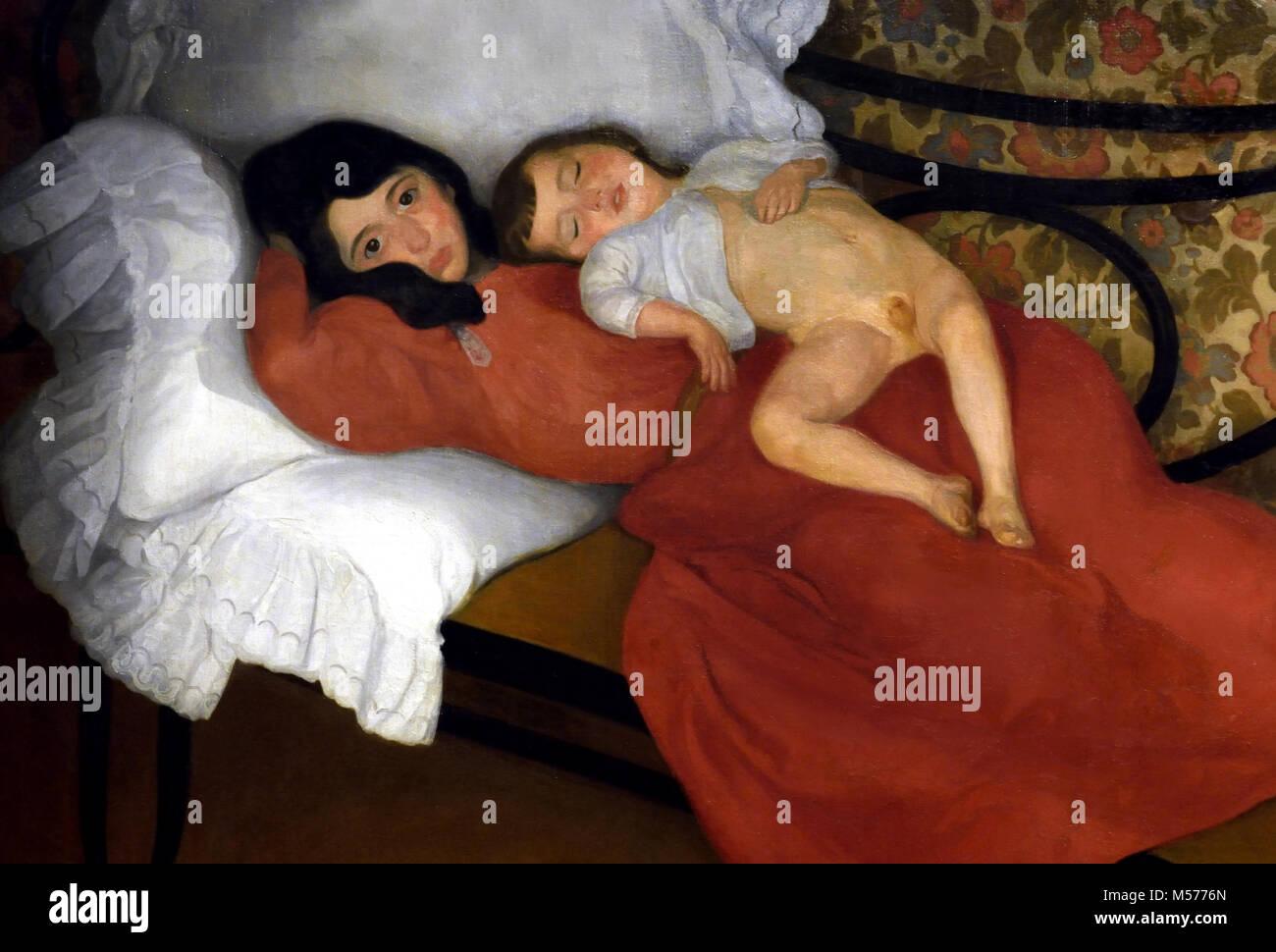 Motherhood 1895 Larroque, Ángel (Bilbao, Bizkaia, 1874 -  Bilbao, Bizkaia, 1961) 20 th, century, Spain, Spanish, - Stock Image