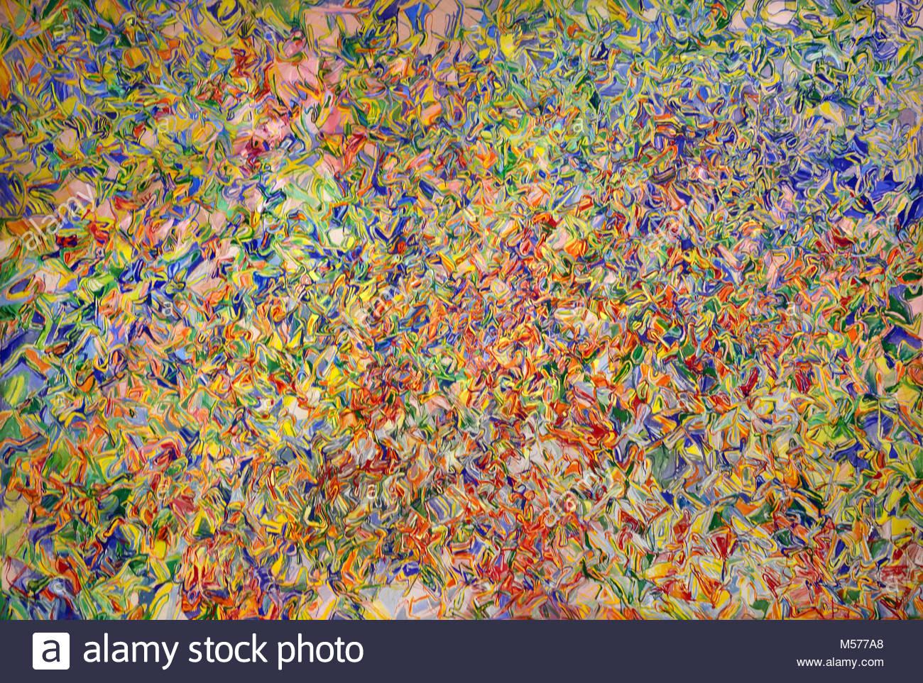 Des potirons, Miquel Barceló, Felanitx, Mallorca, 1957, Mixed technique on canvas, 200 x 300 cm, 1998 ,20th, - Stock Image