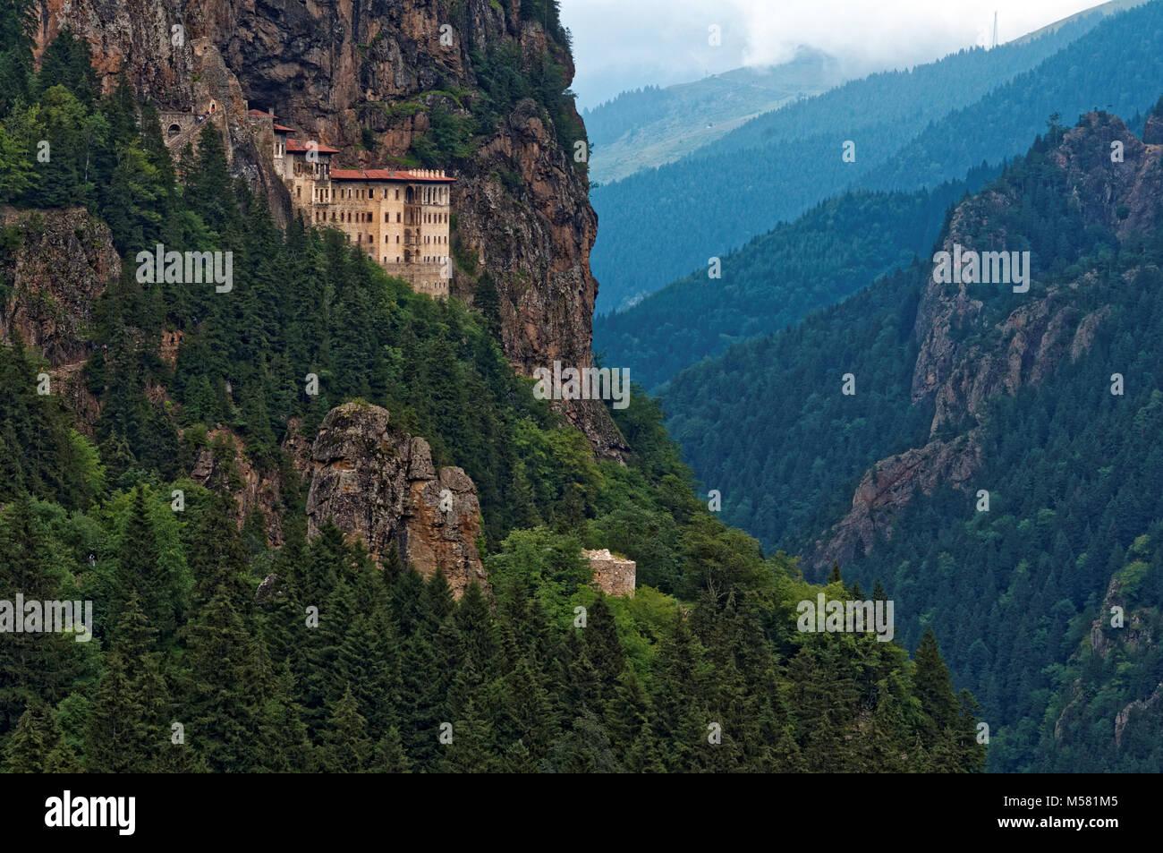 Sumela monastery near Trabzon, Turkey - Stock Image