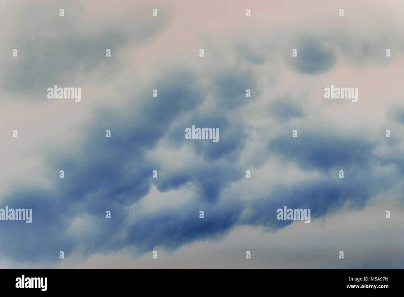 Abstract of overcast sky and storm clouds. - Stock Image