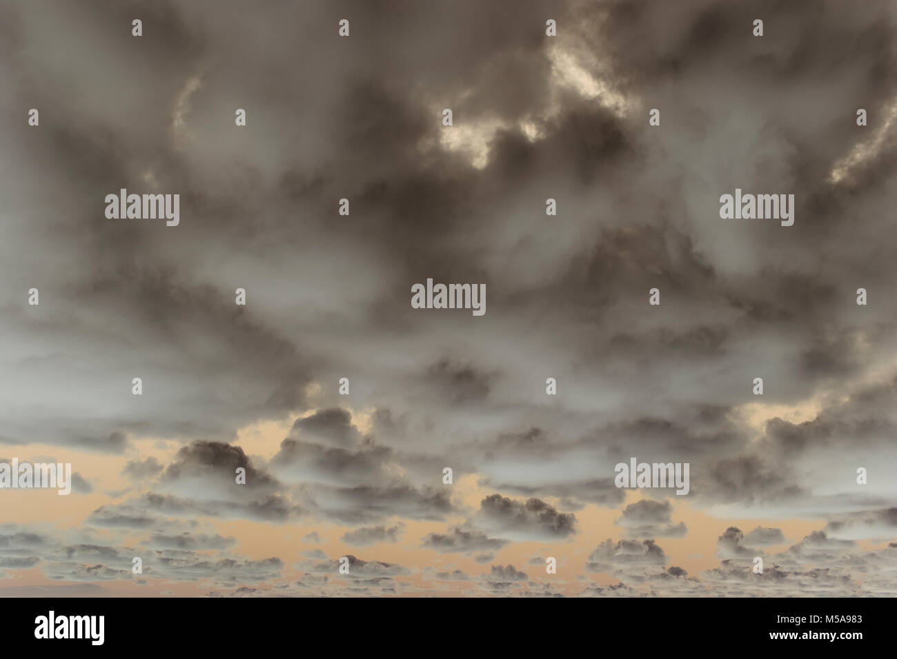 Abstract of overcast sky at dusk. - Stock Image