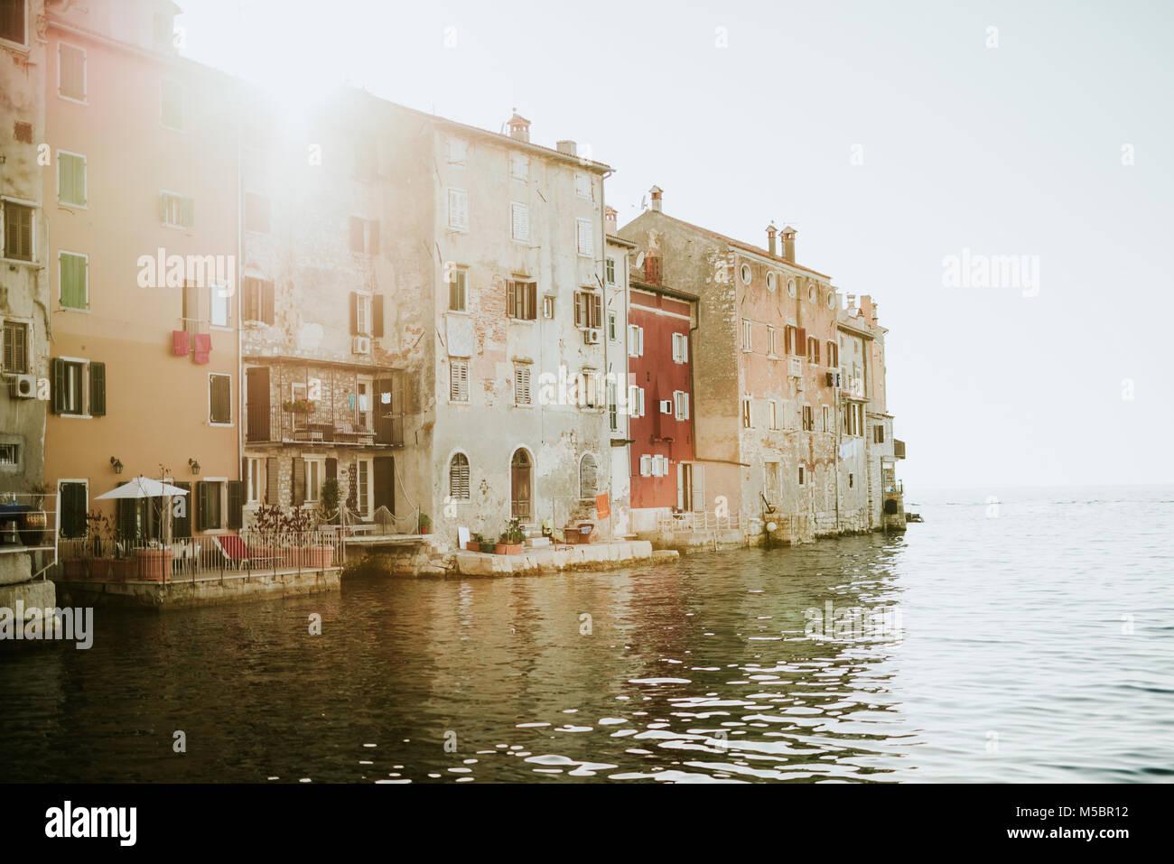 Beautiful City of Rovinj in Croatia - Stock Image