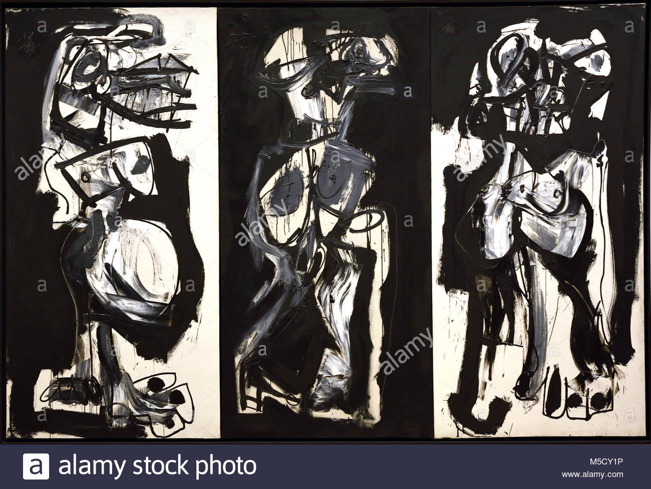 The Three Graces 1959, Antonio Saura (1930-1980) 20th, century, Spain, Spanish, - Stock Image