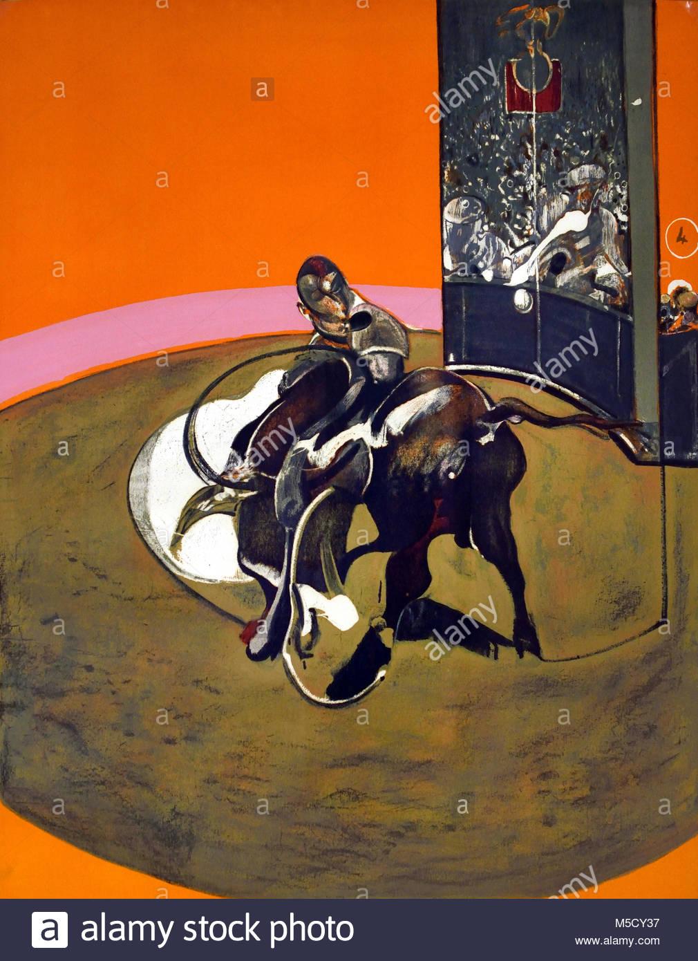 Study for Bullfight No 1 Francis Bacon 1909-1992, 20th, century,  United Kingdom, England, English, British, Britain, - Stock Image