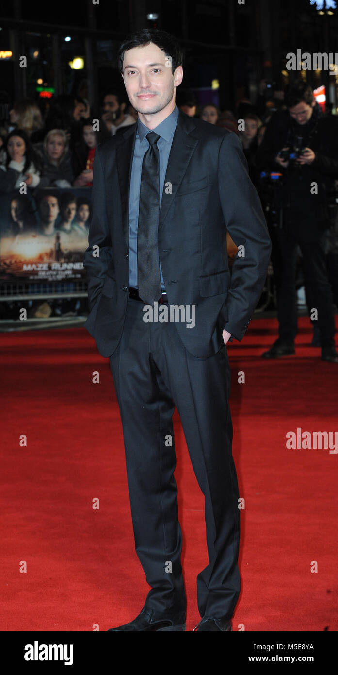 Screening of The Maze Runner: The Death Cure at Vue Cinema in Leicester Square - Arrivals  Featuring: Wes Ball Where: - Stock Image