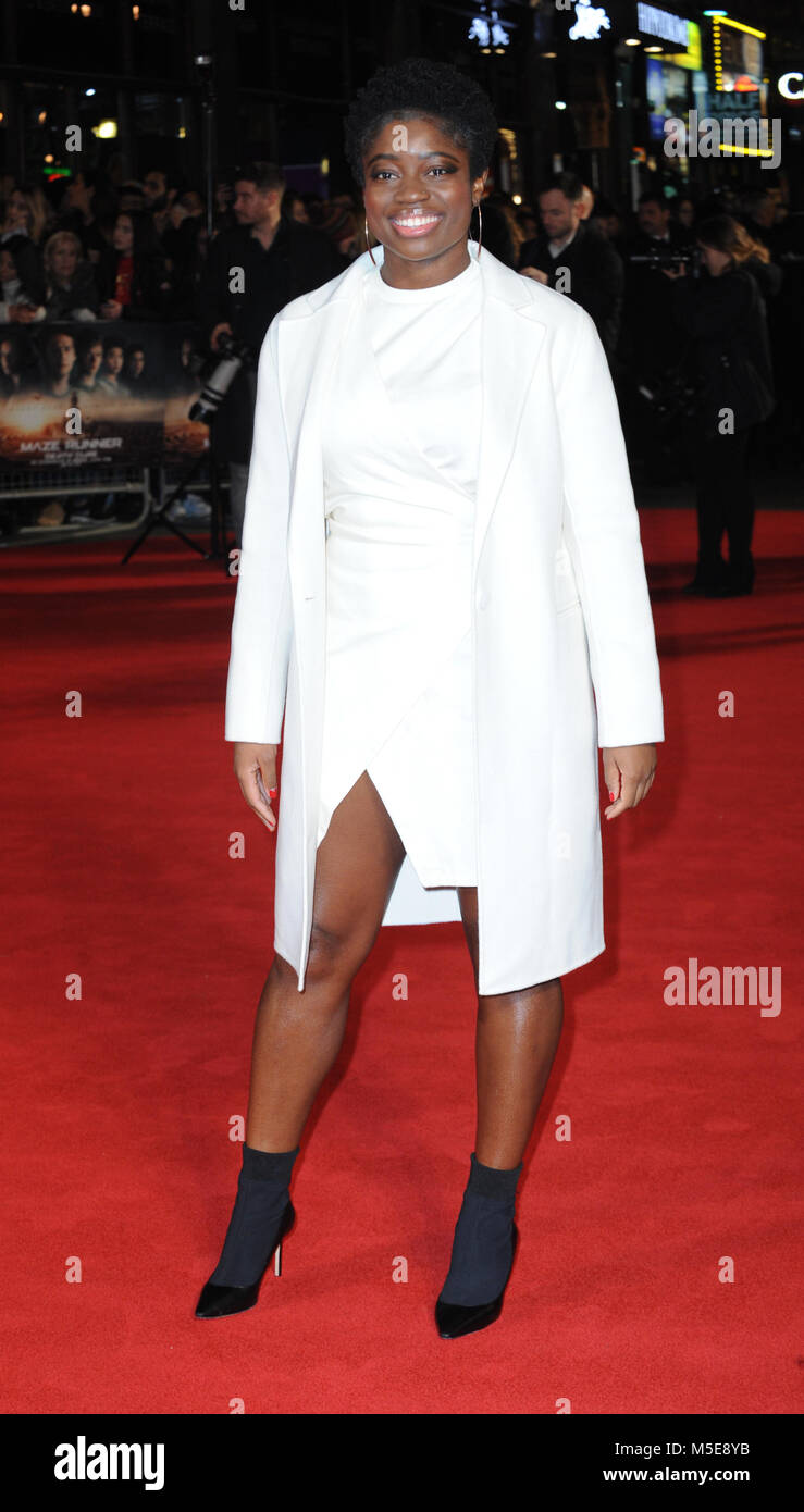 Screening of The Maze Runner: The Death Cure at Vue Cinema in Leicester Square - Arrivals  Featuring: Clara Amfo - Stock Image