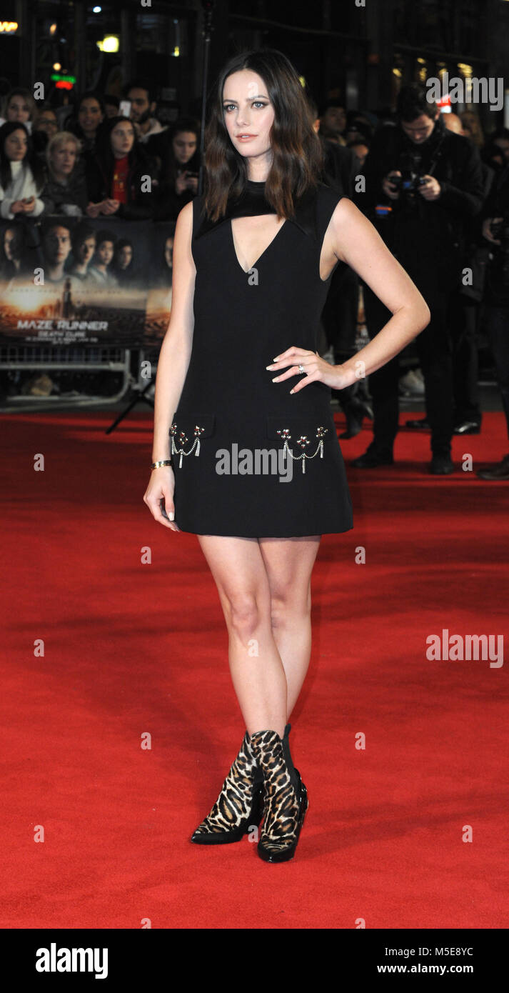 Screening of The Maze Runner: The Death Cure at Vue Cinema in Leicester Square - Arrivals  Featuring: Kaya Scodelario - Stock Image