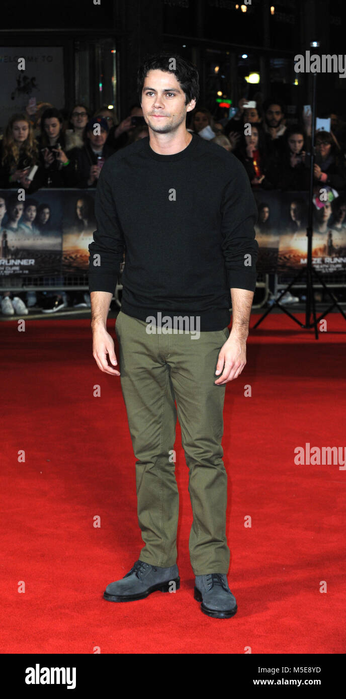 Screening of The Maze Runner: The Death Cure at Vue Cinema in Leicester Square - Arrivals  Featuring: Dylan O'Brien - Stock Image