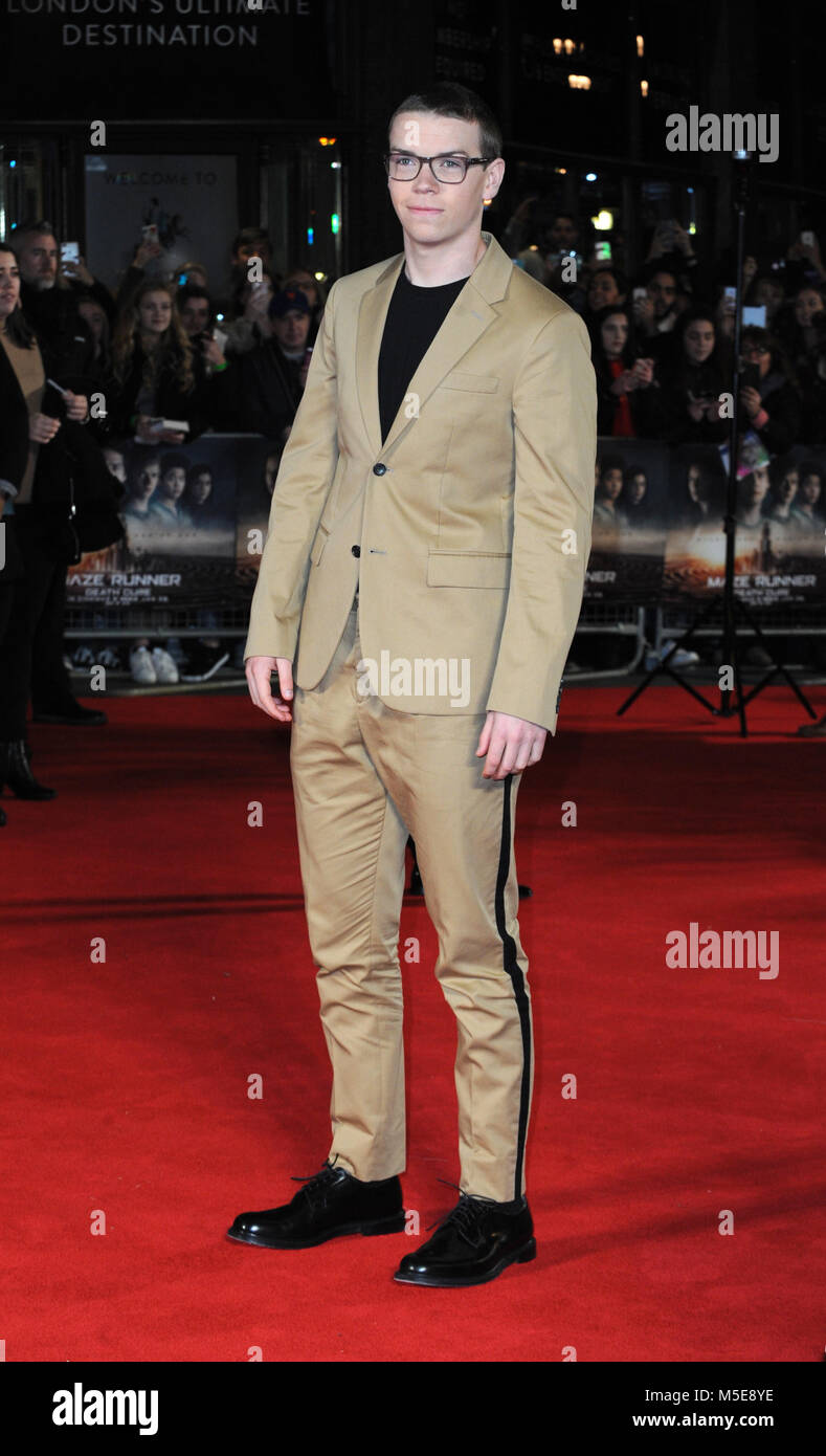 Screening of The Maze Runner: The Death Cure at Vue Cinema in Leicester Square - Arrivals  Featuring: Will Poulter - Stock Image