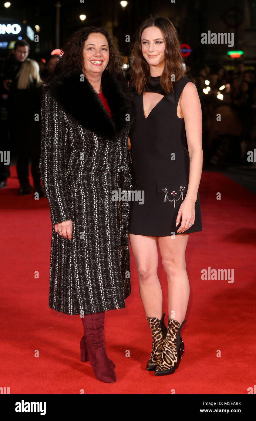 Maze Runner: The Death Cure Fan Screening at VUE Leicester Square  Featuring: Kaya Scodelario and mother Where: - Stock Image