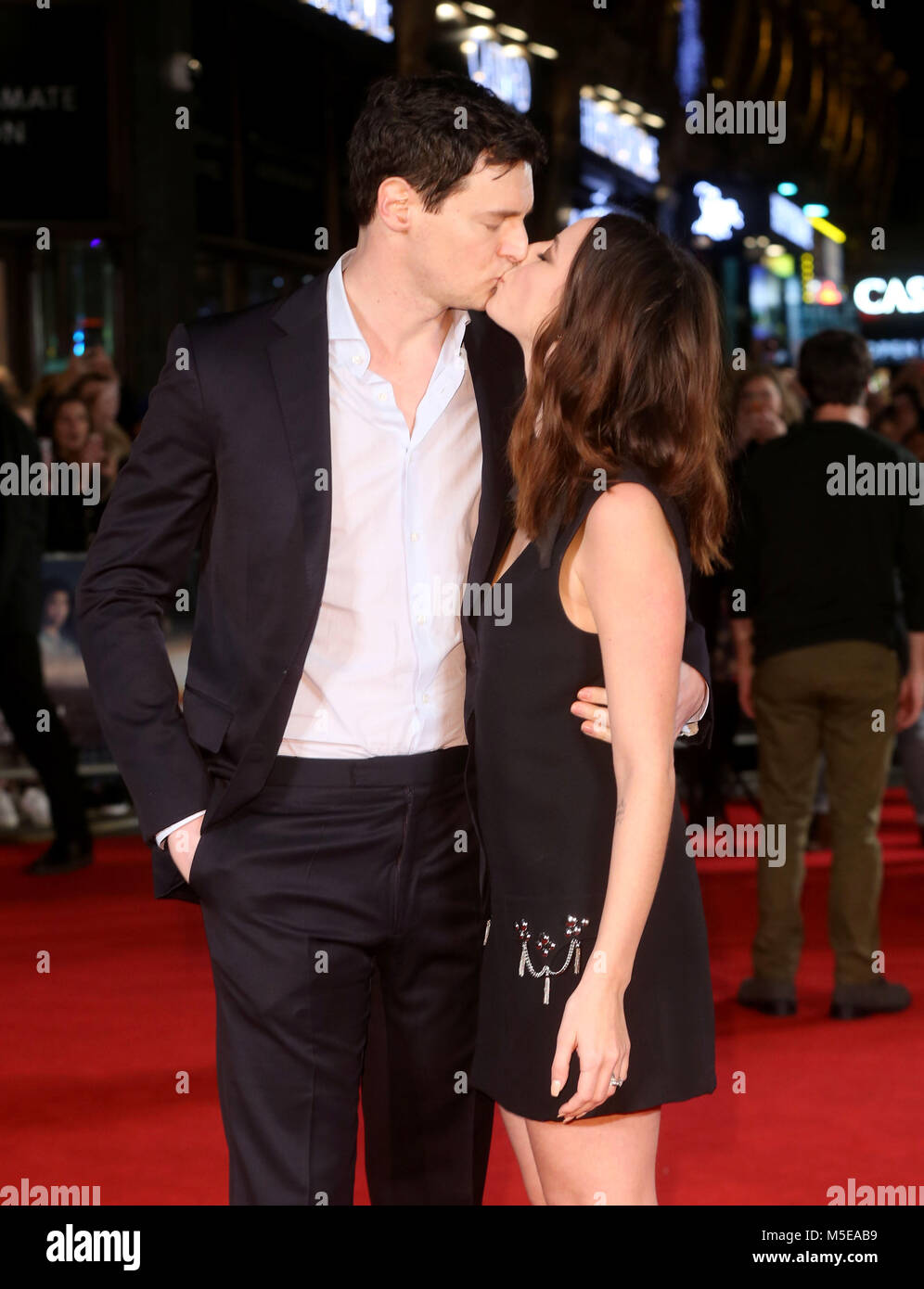 Maze Runner: The Death Cure Fan Screening at VUE Leicester Square  Featuring: Kaya Scodelario and husband Benjamin - Stock Image