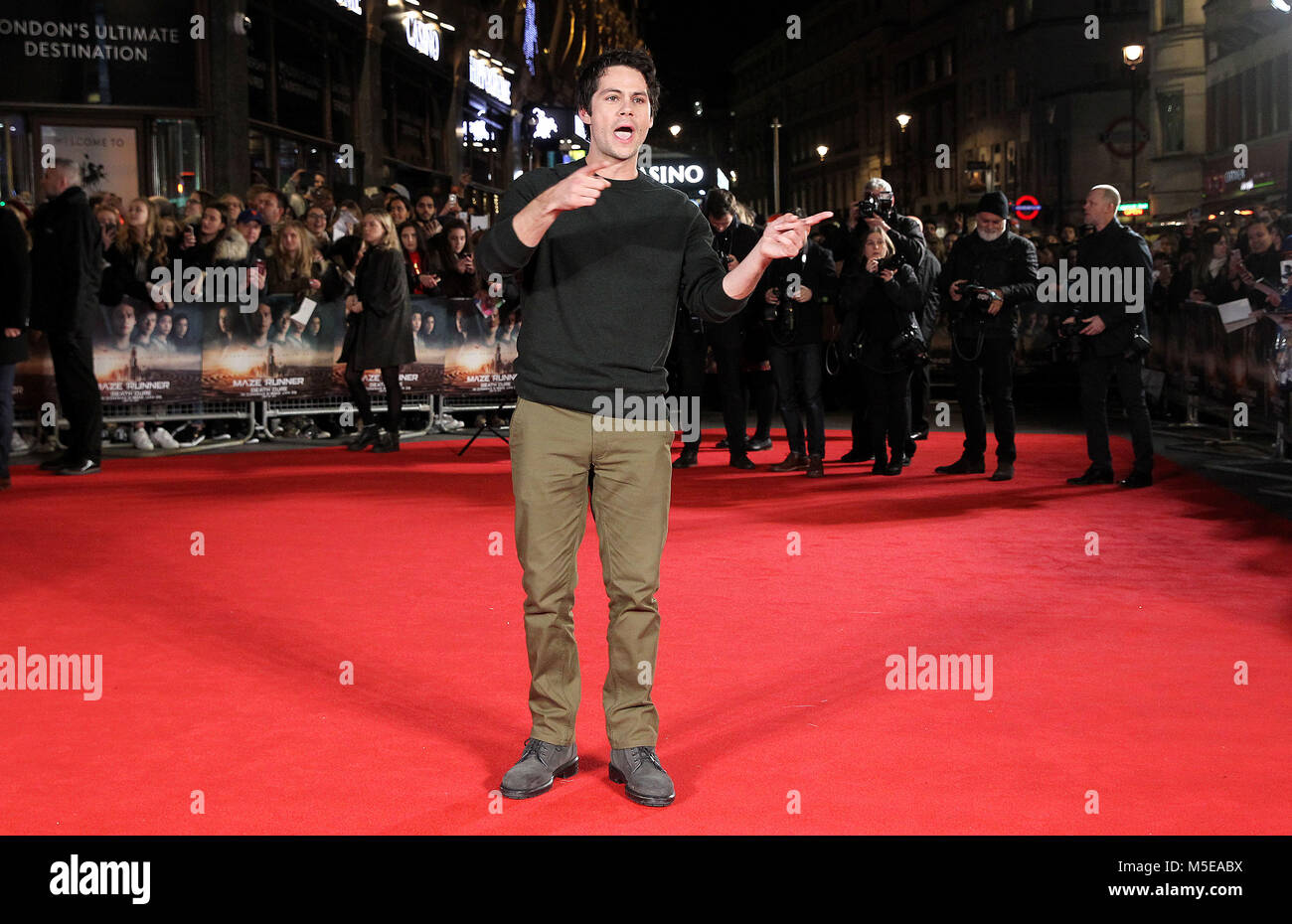 Maze Runner: The Death Cure Fan Screening at VUE Leicester Square  Featuring: Dylan O'Brien Where: London, United - Stock Image