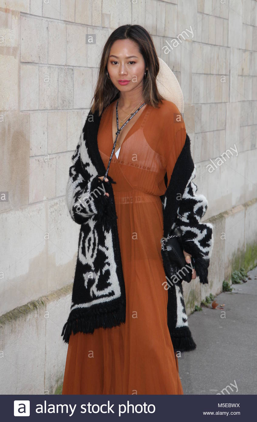 Paris Fashion Week - Christian Dior Haute Couture spring 2018 fashion show - Arrivals  Featuring: Atmosphere, Aimee - Stock Image