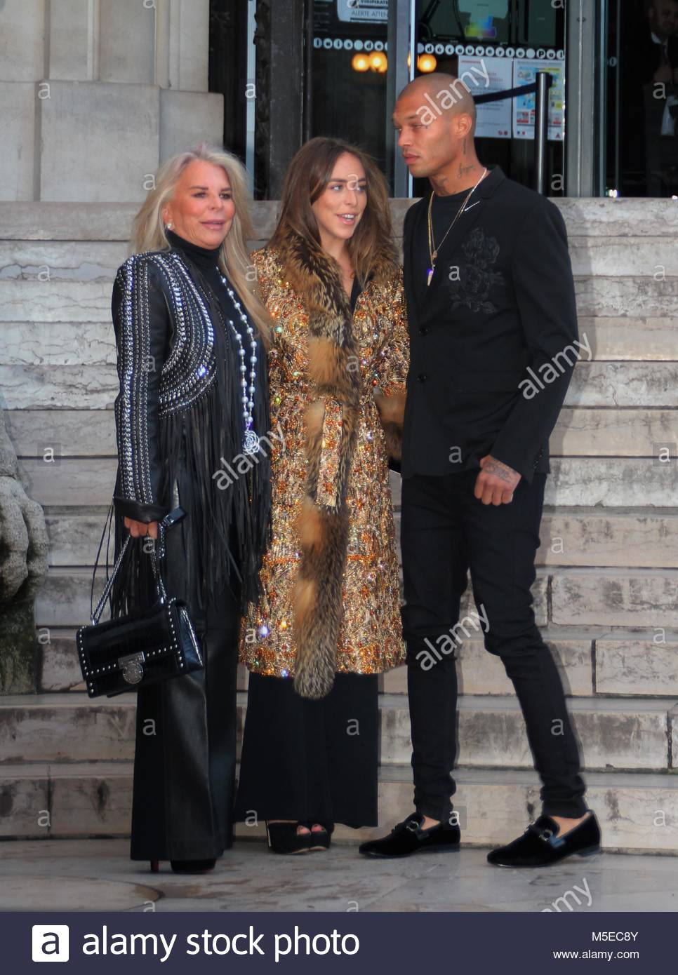 Paris Fashion Week Haute Couture - Ralph & Russo show - Arrivals  Featuring: Chloe Green, Jeremy Meeks, Tina - Stock Image