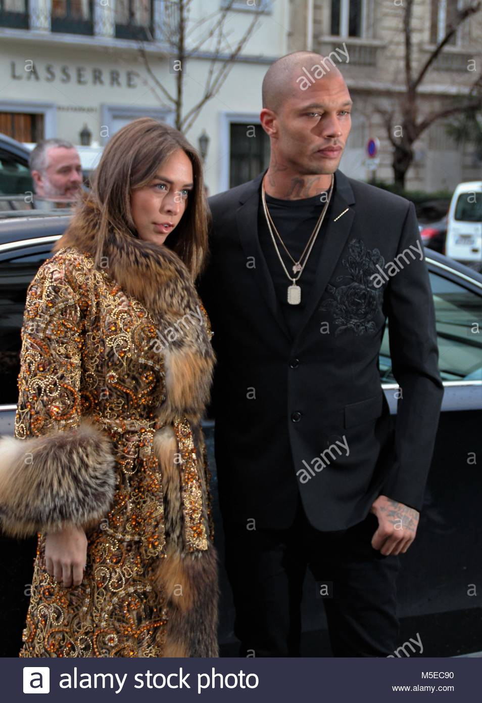 Paris Fashion Week Haute Couture - Ralph & Russo show - Arrivals  Featuring: Chloe Green, Jeremy Meeks Where: - Stock Image