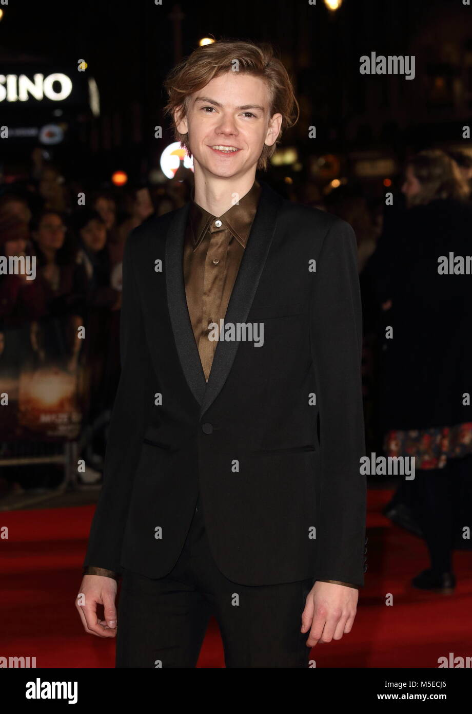 Maze Runner: The Death Cure UK Fan Screening at Vue West End in Leicester Square - Arrivals  Featuring: Thomas Brodie - Stock Image