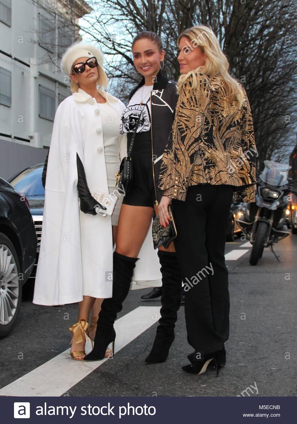 Paris Fashion Week Haute Couture - Ralph & Russo show - Arrivals  Featuring: Hofit Golan, Gloria Patricia Contreras - Stock Image