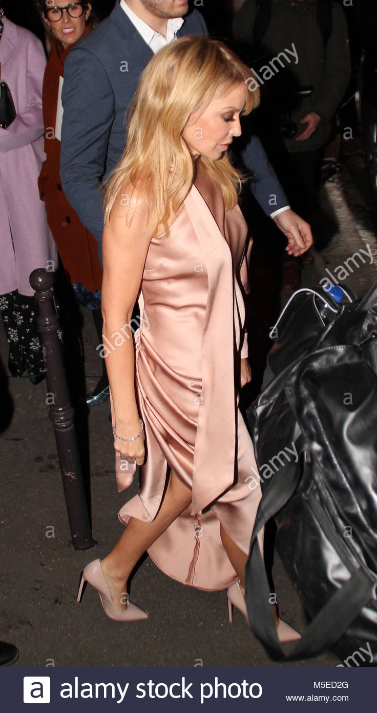 Paris Fashion Week - Ralph & Russo Haute Couture Spring/Summer 2018 - Arrivals  Featuring: Kylie Minogue Where: - Stock Image