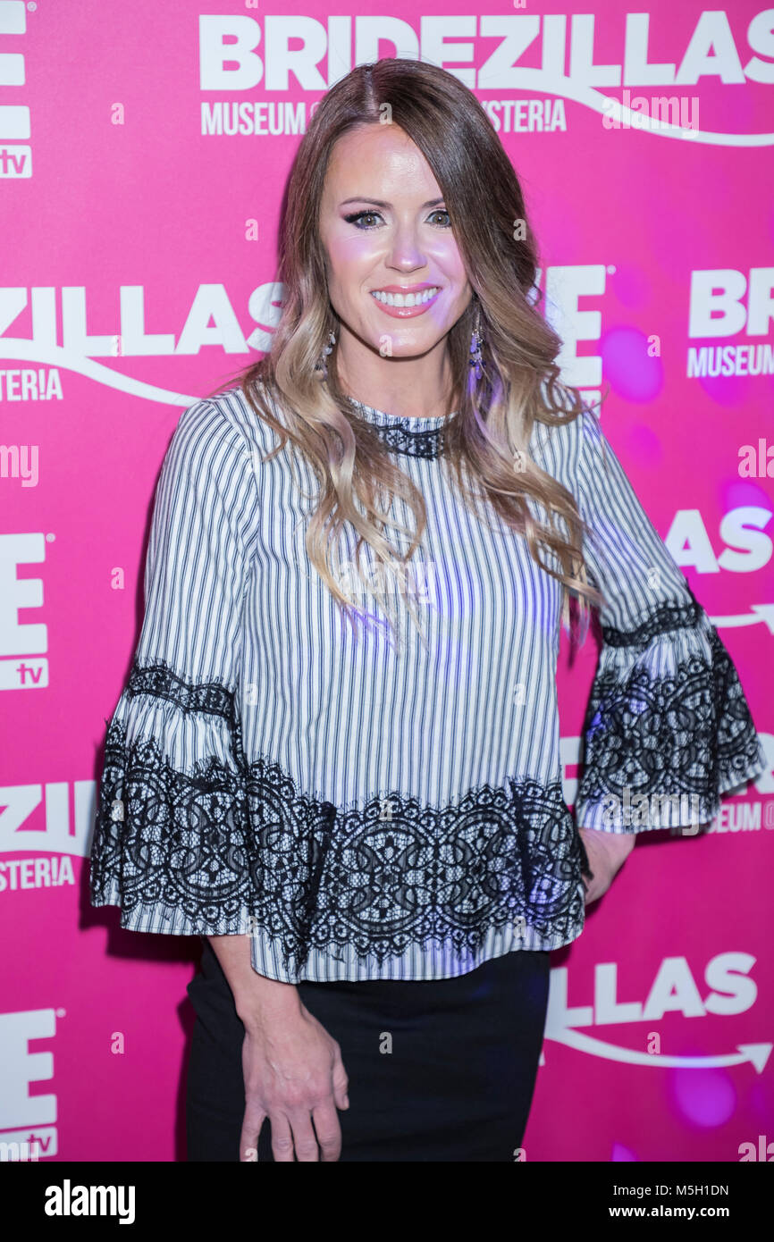 New York, USA. 22nd Feb, 2018. Trista Sutter attends WE TV Launches Bridezillas Museum Of Natural Hysteria at Arena, - Stock Image