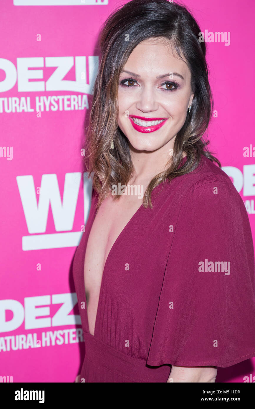 New York, USA. 22nd Feb, 2018. Desiree Hartsock attends WE TV Launches Bridezillas Museum Of Natural Hysteria at - Stock Image