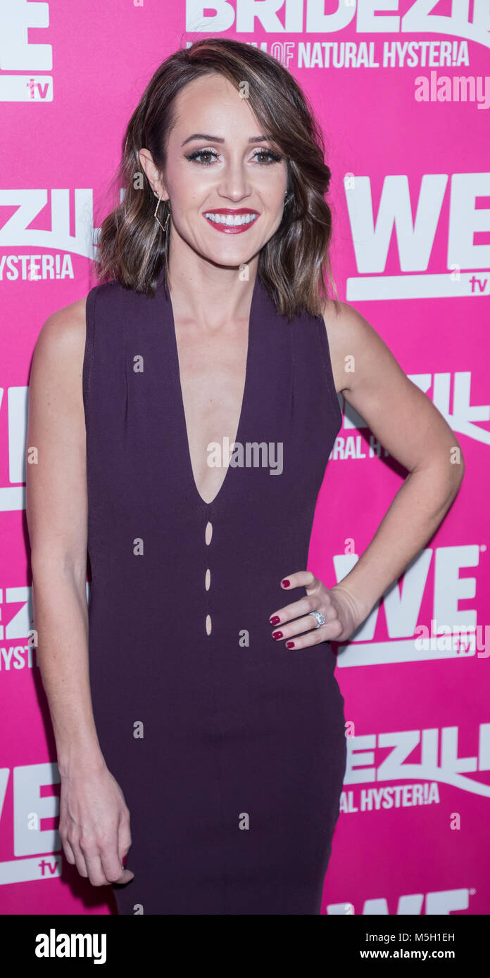 New York, USA. 22nd Feb, 2018. Ashley Hebert attends WE TV Launches Bridezillas Museum Of Natural Hysteria at Arena, - Stock Image