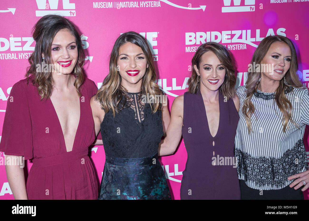 New York, USA. 22nd Feb, 2018. Desiree Hartsock, DeAnna Pappas, Ashley Hebert, Trista Sutter attend WE TV Launches - Stock Image