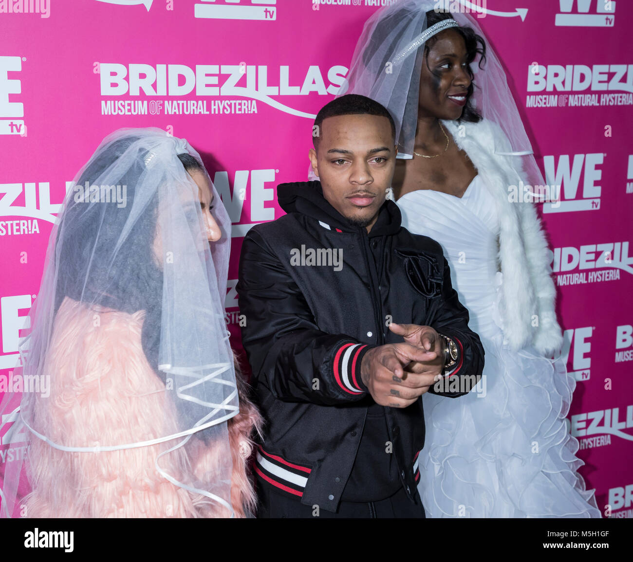 New York, USA. 22nd Feb, 2018. Bow Wow attends WE TV Launches Bridezillas Museum Of Natural Hysteria at Arena, Manhattan - Stock Image