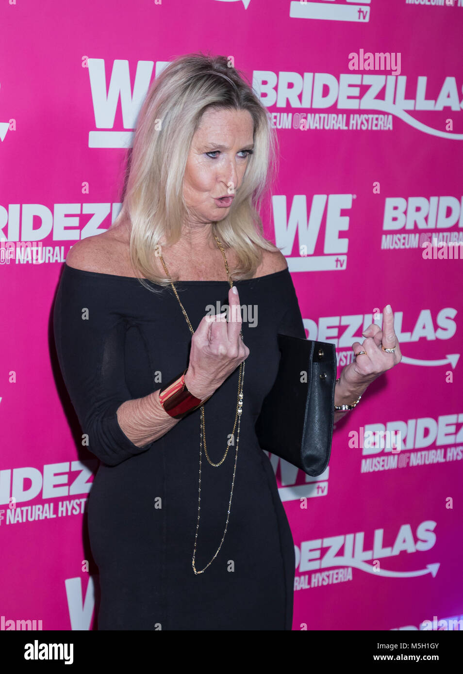 New York, USA. 22nd Feb, 2018. Celebrity Trainer Donna Sexton attends WE TV Launches Bridezillas Museum Of Natural - Stock Image