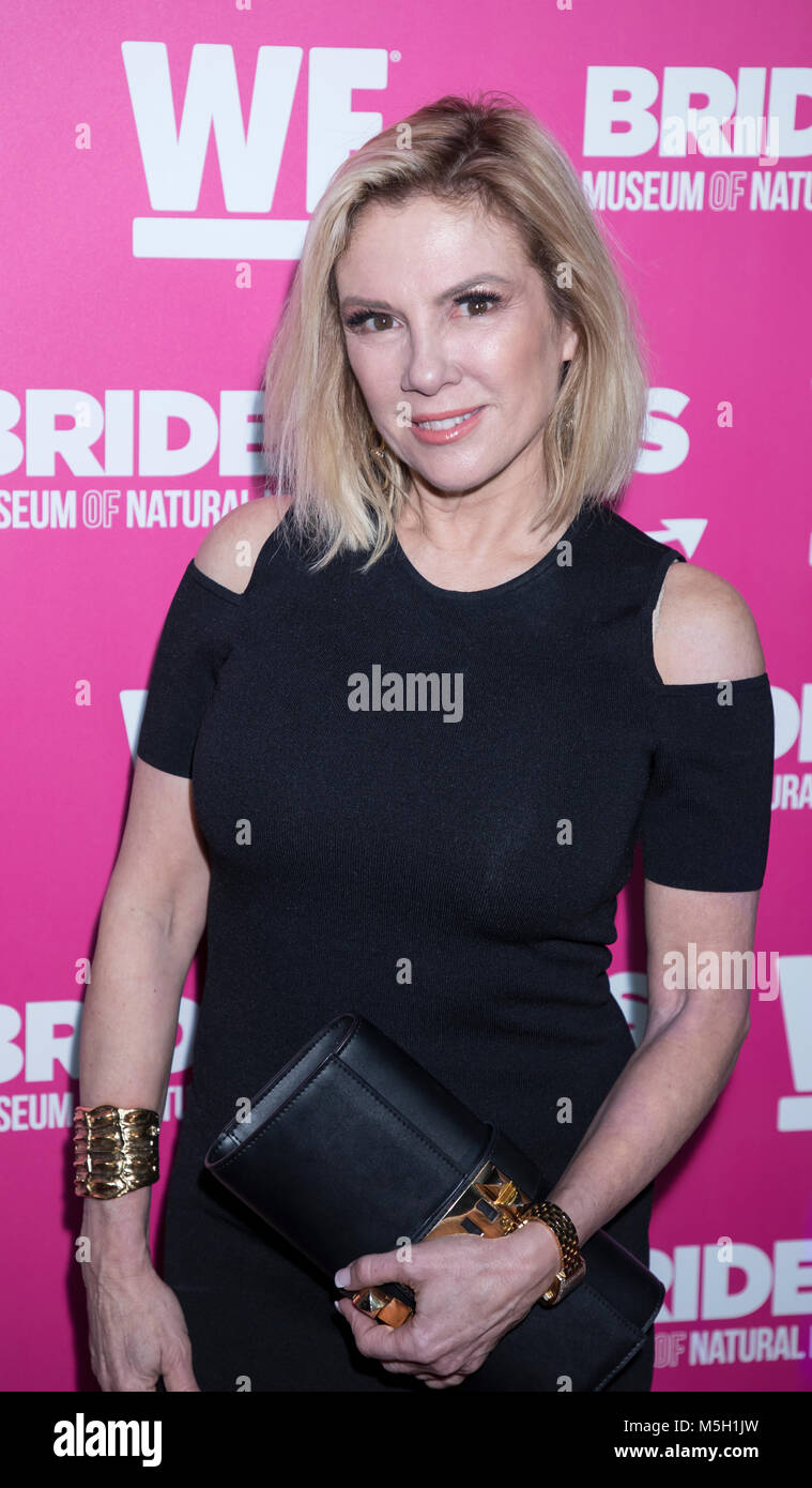 New York, USA. 22nd Feb, 2018. Ramona Singer attends WE TV Launches Bridezillas Museum Of Natural Hysteria at Arena, - Stock Image