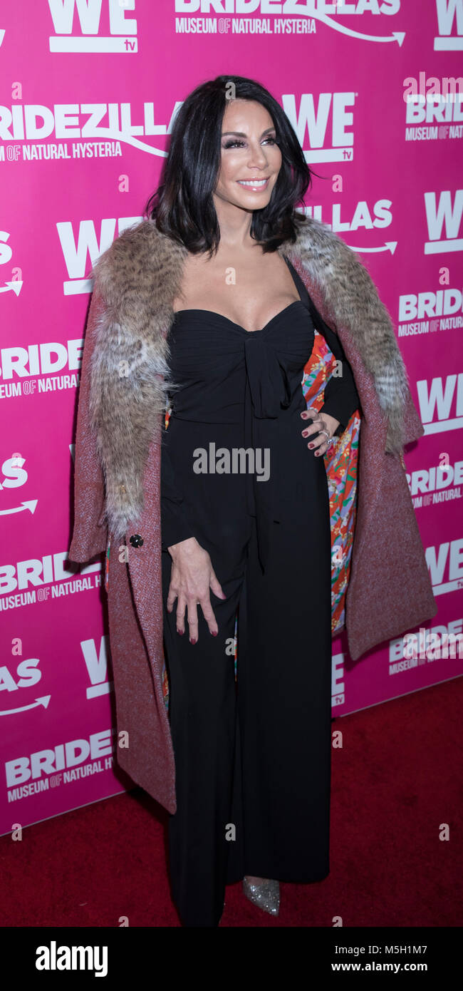New York, USA. 22nd Feb, 2018. Danielle Staub attends WE TV Launches Bridezillas Museum Of Natural Hysteria at Arena, - Stock Image