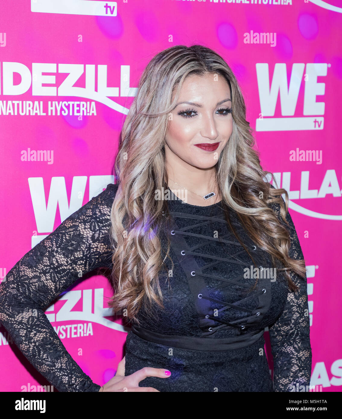 New York, USA. 22nd Feb, 2018. Remy Maadi attends WE TV Launches Bridezillas Museum Of Natural Hysteria at Arena, - Stock Image