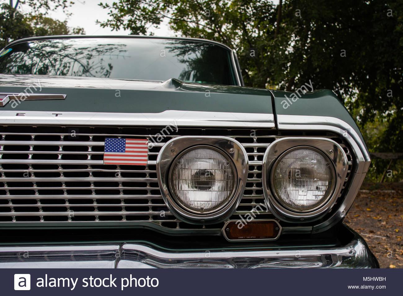 Old Car Headlights : Ford maverick stock photos images