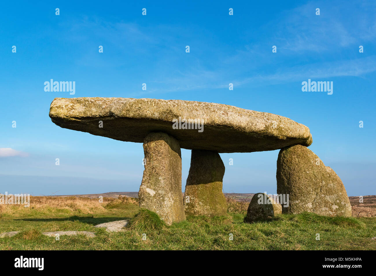 lanyon quoit a neolithic dolman near the village of madron in west cornwall, england, britain, uk.lanyon quoit cornwall, - Stock Image