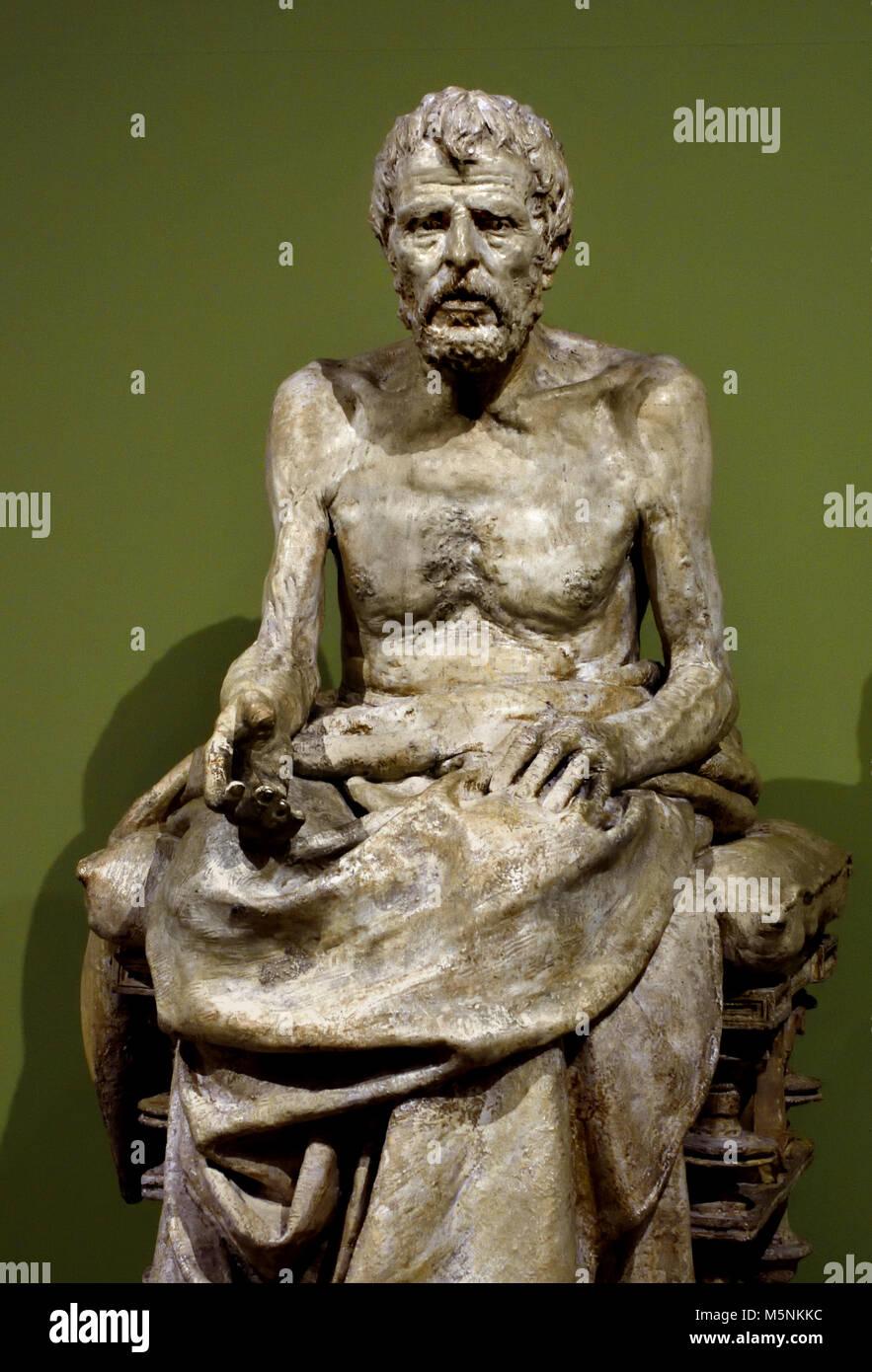 Lucius Annaeus Seneca 1894 by Mateo Inurria Lainosa 1867, Córdoba - 1924, Madrid) was a Spanish sculptor, 19th,century, - Stock Image