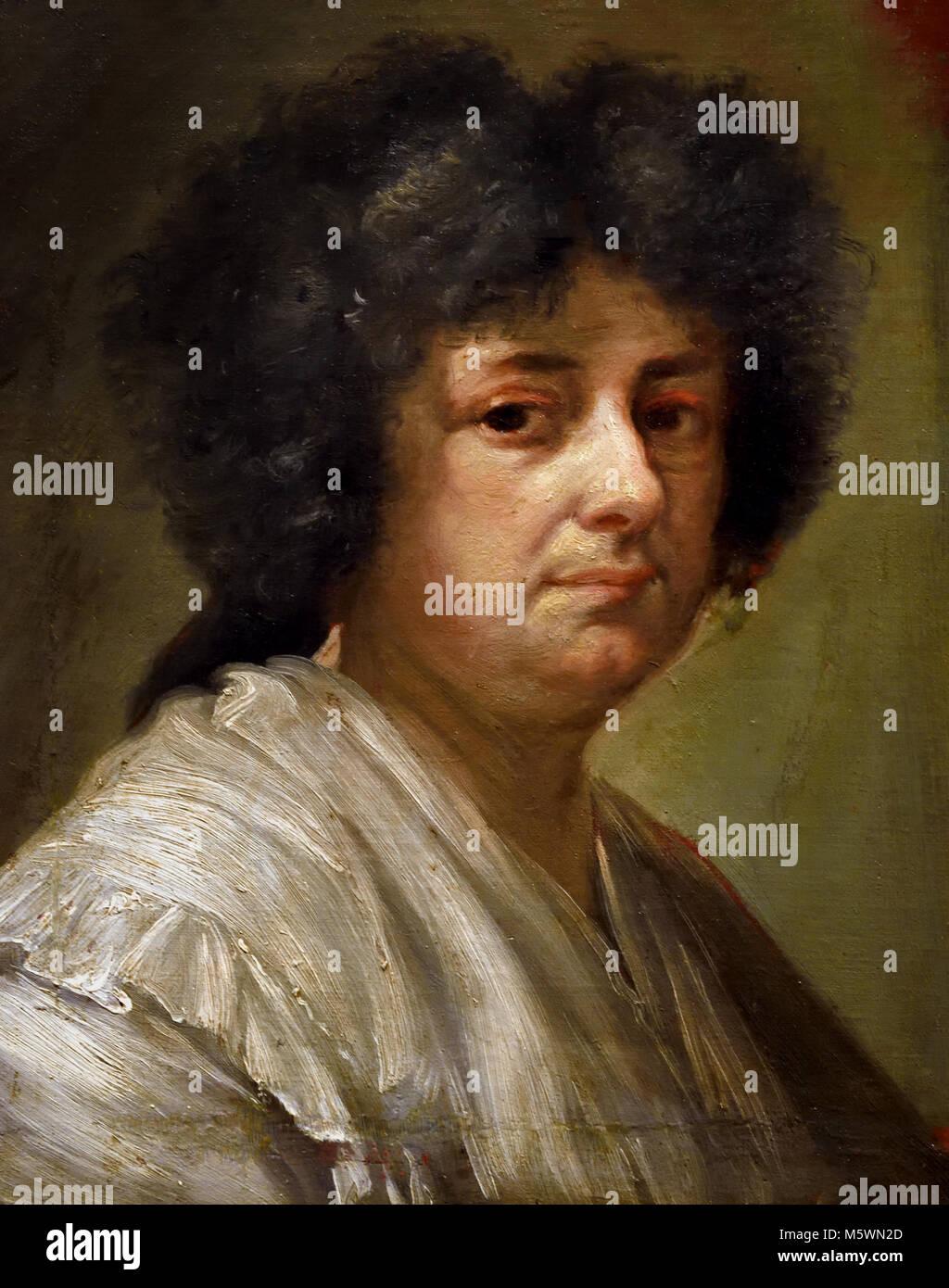 Retrato de Sebastiana Merclein - Portrait of Sebastiana Merclein 1780 Francisco Bayeu y Subías  (1734–1795) - Stock Image