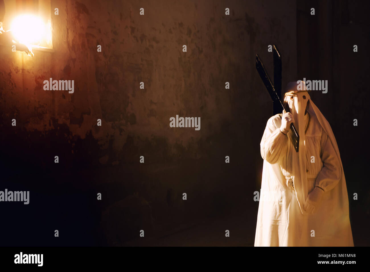 PROCIDA, ITALY - APRIL 10, 2009 - Holy Thursday in Procida is characterized by a series of intense Easter's - Stock Image