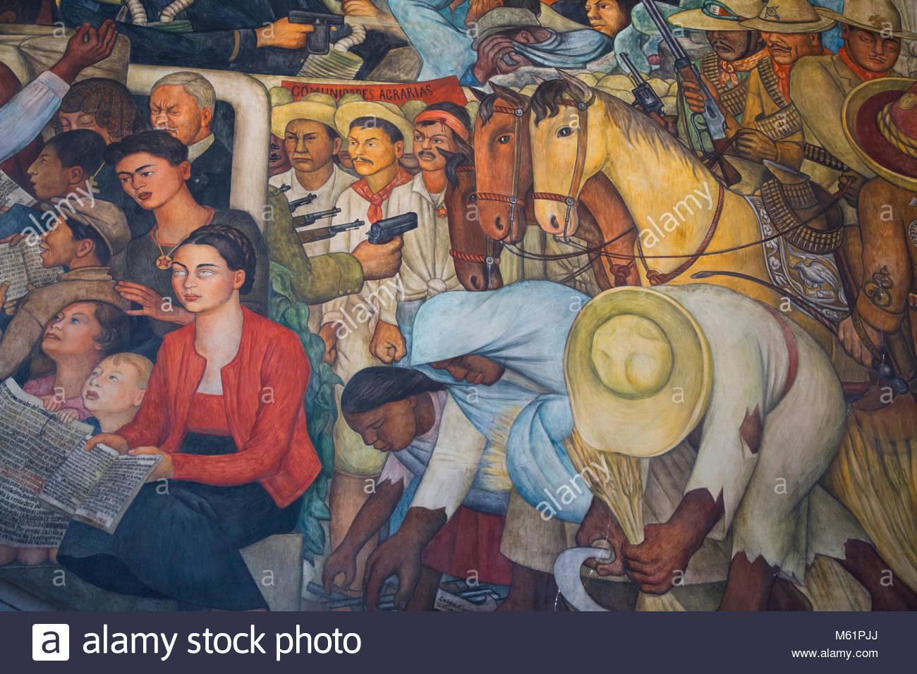 Diego Rivera Mural Mexico History Stock Photos Diego