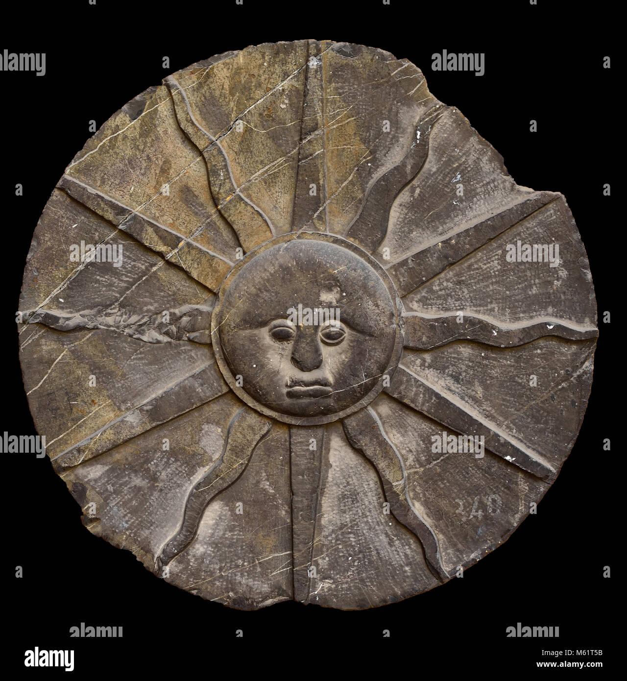 Emblema Solar - Solar Emblem  18th,century, Spain, Spanish, - Stock Image