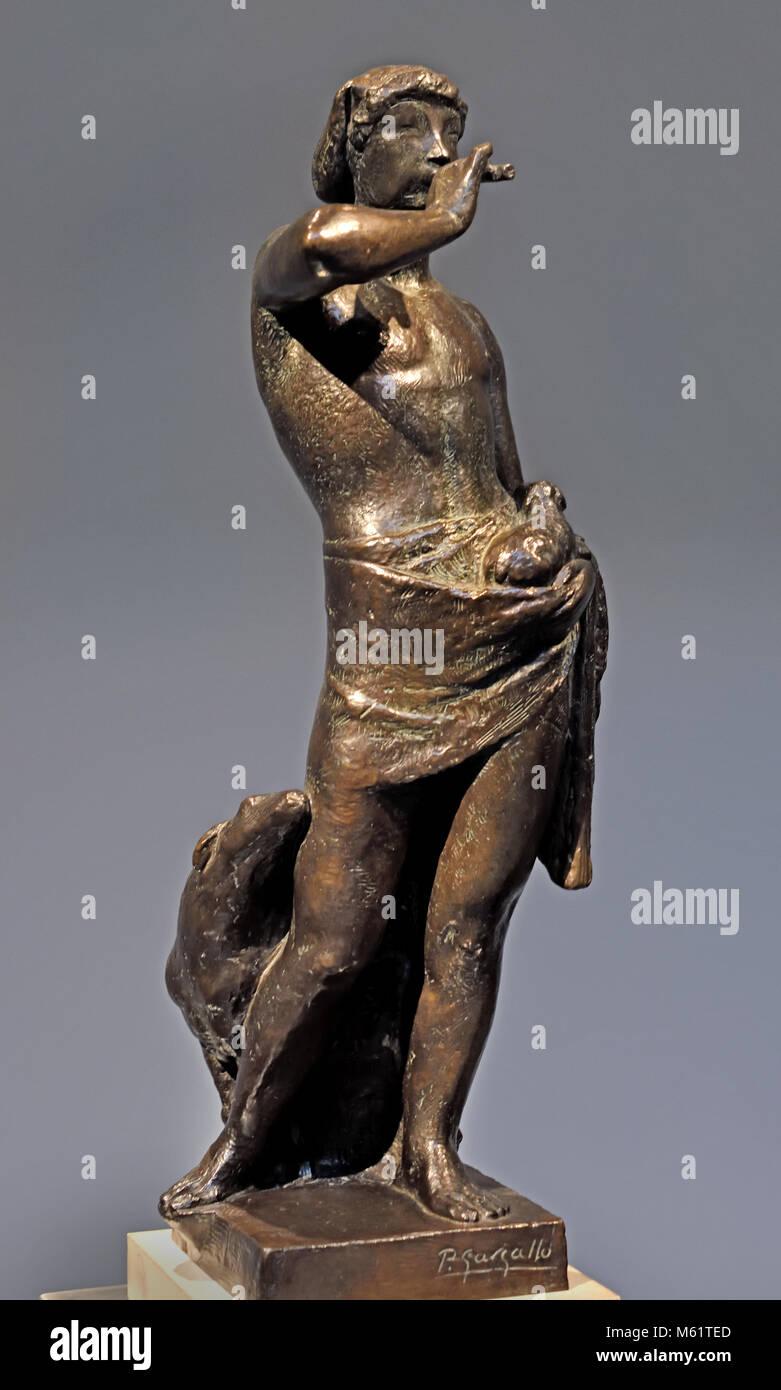 El Pastor de la Flauta - the Shepherd of the Flute 1927 Pablo Emilio Gargallo (1881 – 1934) was a Spanish sculptor - Stock Image