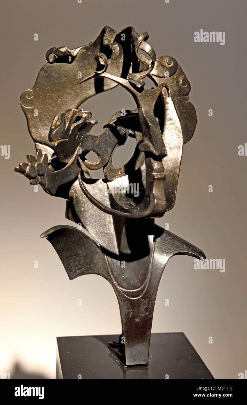 Fauno con Monóculo - Faun with Monocle 1915 Pablo Emilio Gargallo (1881 – 1934) was a Spanish sculptor and - Stock Image