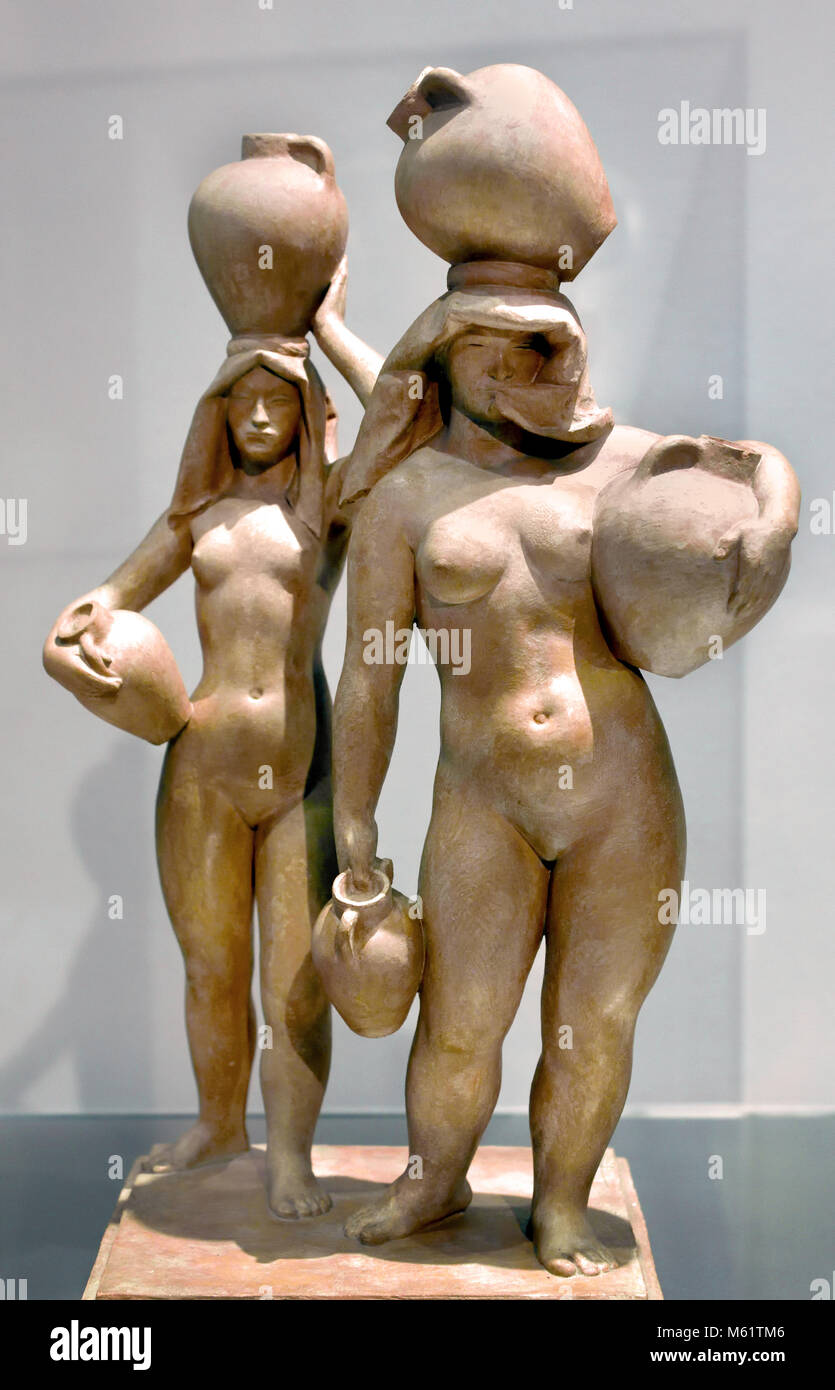 Aguadoras (water carriers) 1925 Pablo Emilio Gargallo (1881 – 1934) was a Spanish sculptor and painter Aragonese - Stock Image