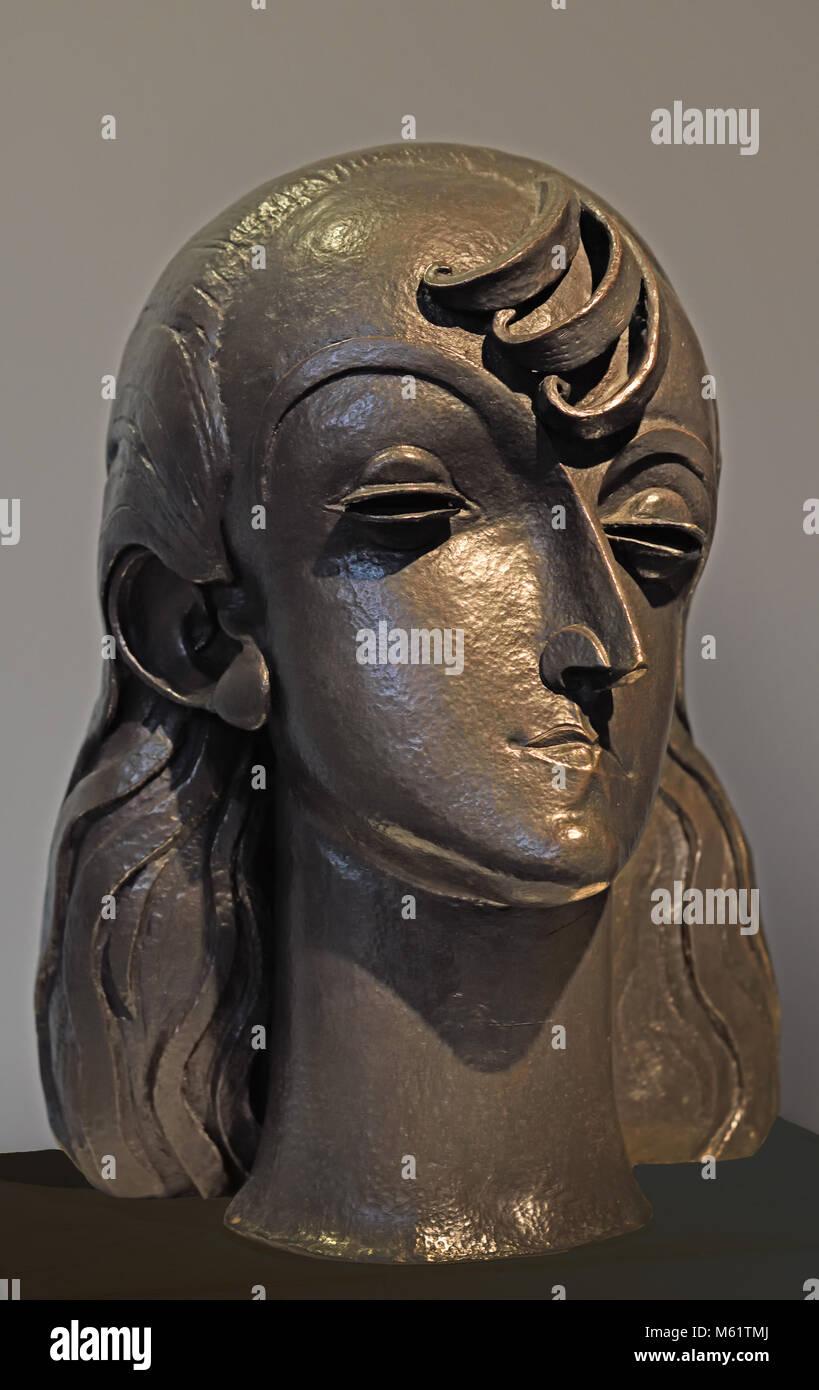 Joven Española - Young Spanish 1921 Pablo Emilio Gargallo (1881 – 1934) was a Spanish sculptor and painter - Stock Image