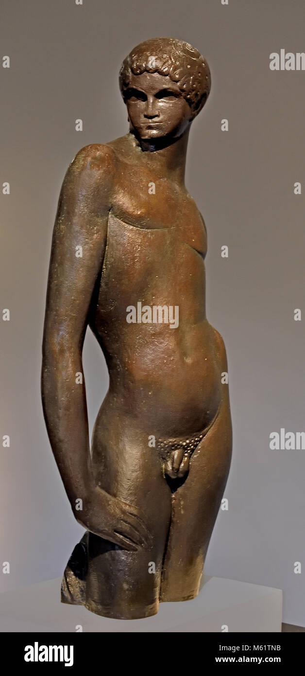 Pastor 1917 Pablo Emilio Gargallo (1881 – 1934) was a Spanish sculptor and painter Aragonese avant-garde.( Born - Stock Image