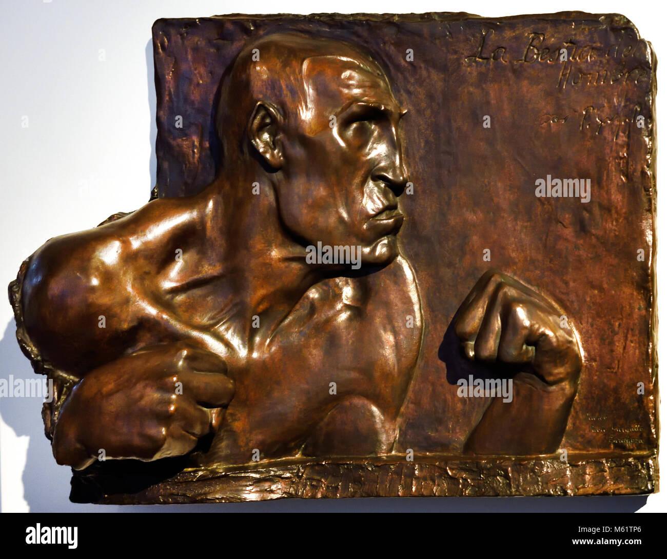 La Bestia del Hombre - The Beast of Man 1904 Pablo Emilio Gargallo (1881 – 1934) was a Spanish sculptor and painter - Stock Image