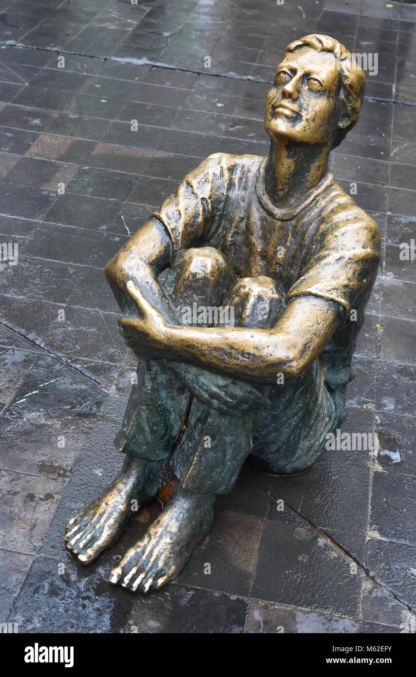 Pablo Emilio Gargallo (1881 – 1934) was a Spanish sculptor and painter Aragonese avant-garde.( Born in Maella, Aragon, - Stock Image