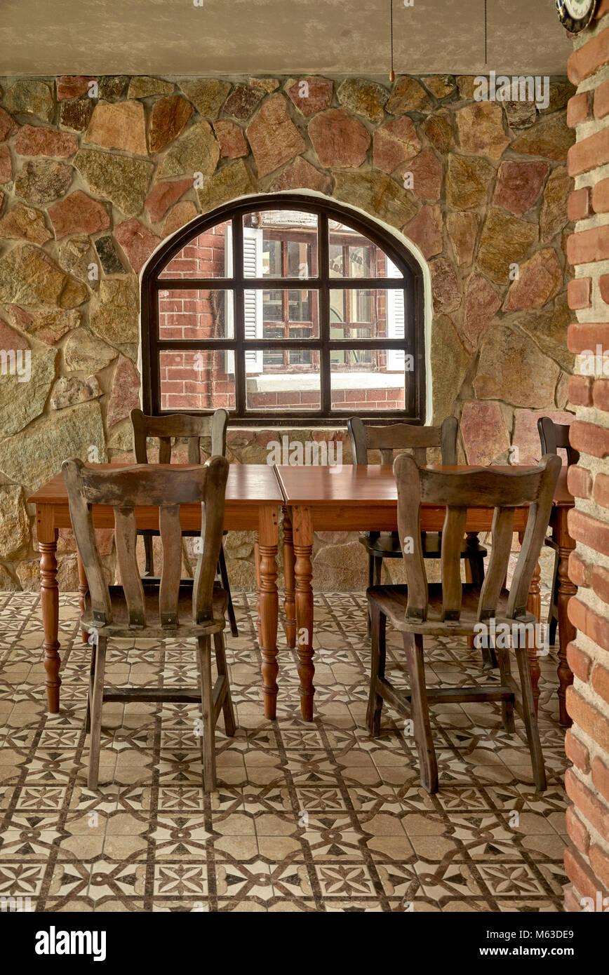 Interior Exposed Stone Wall Stock Photos & Interior ...